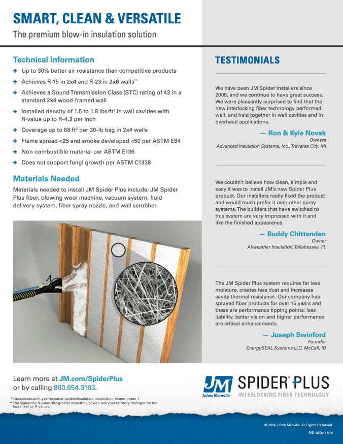 JM Spider Plus Sell Sheet pg 2